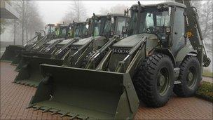 JCB's for British Army