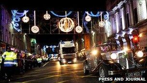 Aberdeen Christmas lights [Pic: Press and Journal]