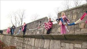 Scarves at York City Walls