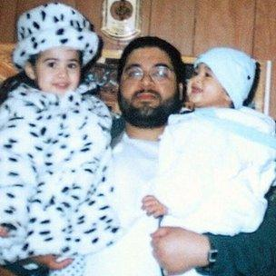 Shaker Aamer with two of his children