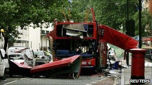 Bus blown up on 7 July 2005