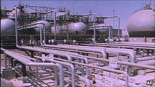 Ras Tannura oil refinery in Saudi Arabia. File photo