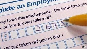 personal tax form