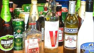 Confiscated alcohol