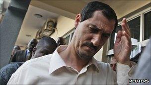 Azim Aghajani outside a magistrate court in Abuja, 25 November 2010