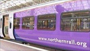 Northern Rail train carriage