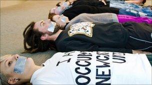 Student occupation of Newcastle University (pic courtesy of Lindsay Mackenzie)