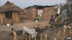 Woman in a rural village