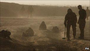 British soldiers training in Helmand province