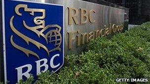 The Royal Bank of Canada sign