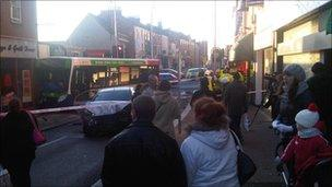 Bus crash in Northampton