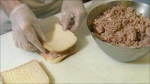 Tuna sandwich making generic