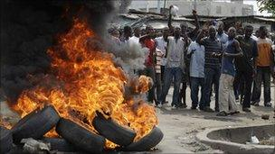 Supporters of Alassane Ouattara (file photo)