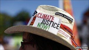Climate campaigner at the UN climate talks, Cancun (Image: Reuters)