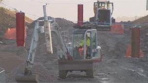 By-pass being built in south Wales