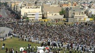 Dr Imran Farooq's funeral in Karachi, Pakistan