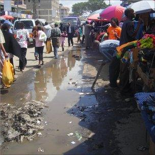 Uncollected rubbish in Eastleigh