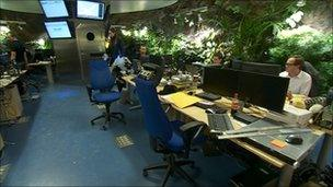 The bunker's control room