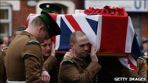 Guardsman Davies funeral
