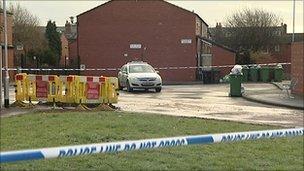 Scene of house explosion in Leeds