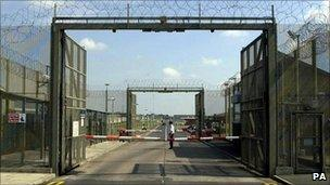 Main gates of Maghaberry Prison