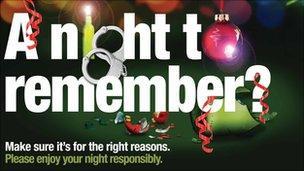 Surrey Police festive campaign poster