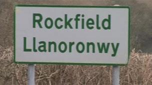 Rockfield road sign