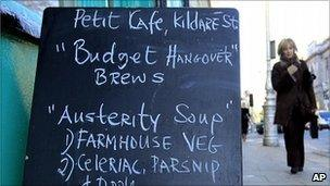 Dublin cafe menu, December 2010