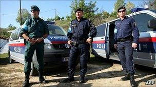 Frontex officers in Greece - file pic