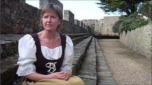 Annette Henry, Guernsey tour guide, in Castle Cornet