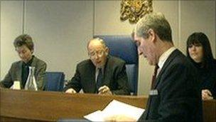A magistrates court in session