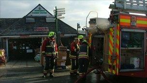 Firefighters at Homeleigh garden centre
