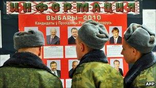 Election poster in Minsk