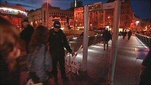 City Centre metal detector