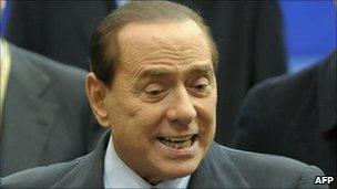 Italian Prime Minister Silvio Berlusconi at EU summit, 17 December.