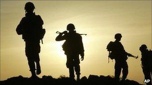 Sri Lankan soldiers. File photo