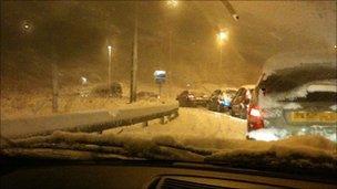 M6 traffic jam