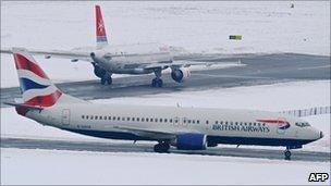 Aircraft at Gatwick Airport on Sunday