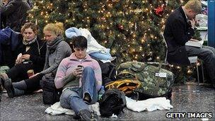 Stranded passengers at Heathrow