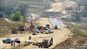 Construction of the Budapest orbital motorway