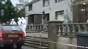 Victor Stewart murder scene