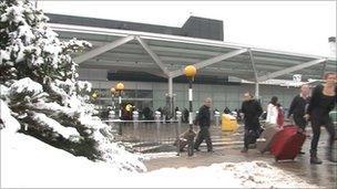 Birmingham Airport on Monday