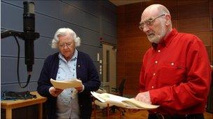 Patricia Greene and Edward Kelsey at a 2006 recording