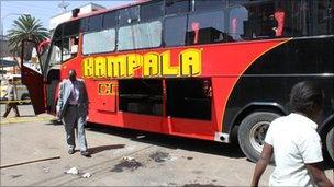 Site of bomb blast, Nairobi