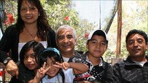 Omar Reygadas and his family