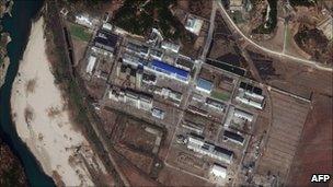 DigitalGlobe satellite photograph of Yongbyon nuclear site (4 November 2010)