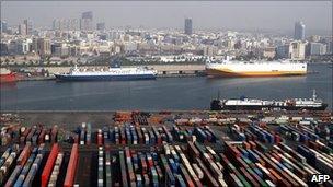 Rashid port in Dubai