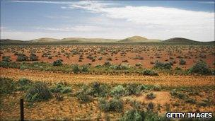 View of the Australian outback from the Indian Pacific