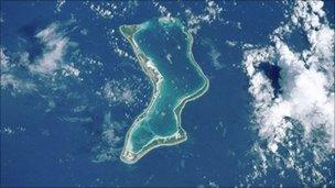 Diego Garcia pictured from Space