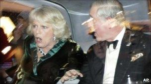 The Prince of Wales and Duchess of Cornwall's car was attacked during student protests in London